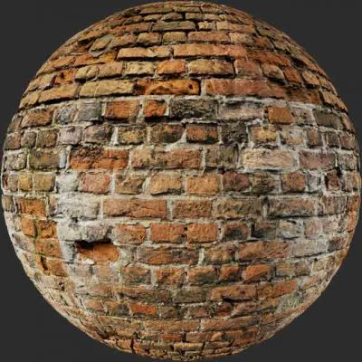 red brick plaster patch 02 PBR Texture