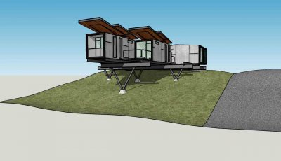 house on mountain Sketchup Model