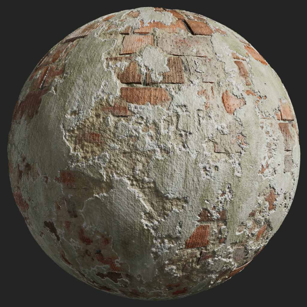 Painted Plaster 010 Pbr Texture