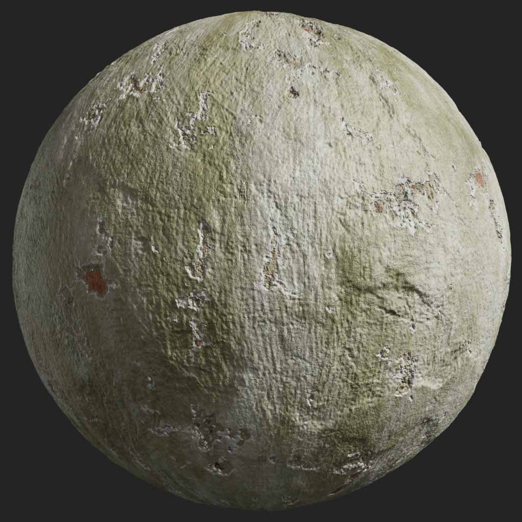 Painted Plaster 011 Pbr Texture