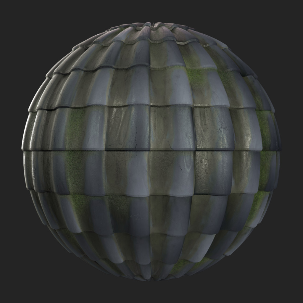 Roofing Tiles 009 pbr texture