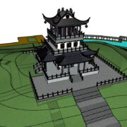 Chinese Temple Sketchup Model